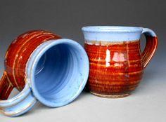 Blue Rim Mug  Ceramic Coffee Mug by darshanpottery on Etsy, $20.00