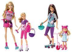 Barbie y sus hermanas patinando