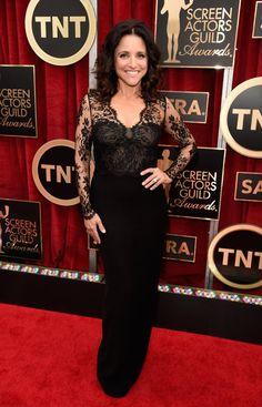 Pin for Later: Wir nehmen euch mit auf den roten Teppich der SAG Awards! Julia Louis-Dreyfus