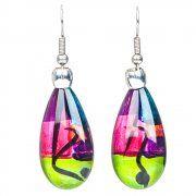 pear drop earrings (rainbow)
