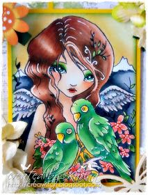 Sweet Pea Stamps: Parrot Love