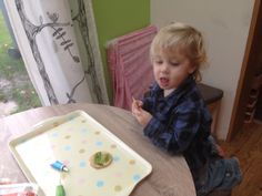 The gingerbread had dairy in it so Jack coloured in some rich teas :)