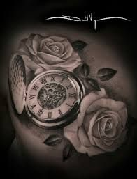 Image result for womens back tattoos pocket watch