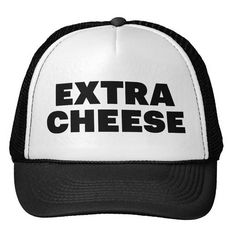 EXTRA CHEESE Letters Print Baseball Cap Trucker Hat For Women Men Unisex Mesh Adjustable Size Black White Drop Ship M-91