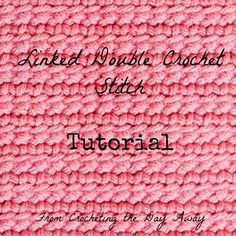How to #crochet linked double crochet stitch @menglar