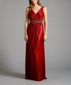 Look what I found on #zulily! Dark Red Rachel Gown - Plus Too #zulilyfinds