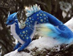 Needle felted fantasy dragon by YuliaLeonovich on DeviantArt Dragon Love, Felt Dragon, Needle Felted Animals, Felt Animals, Needle Felting, Anime Dragon, Dragon Art, Cute Fantasy Creatures, Mythical Creatures