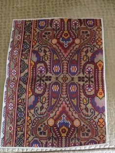 Gallery.ru / Фото #72 - μετρητα 4 - ergoxeiro Needlepoint Designs, Cross Stitching, Cross Stitch Patterns, Embroidery Designs, Bohemian Rug, Folk, Projects To Try, Traditional, Ornaments