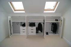 """Résultat de recherche d'images pour """"designs for narrow closets with slanted ceilings"""""""