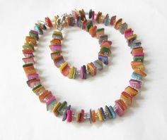 Perlmuttketten - Perlmutt-Kette Collier bunt - ein Designerstück von soschoen bei DaWanda