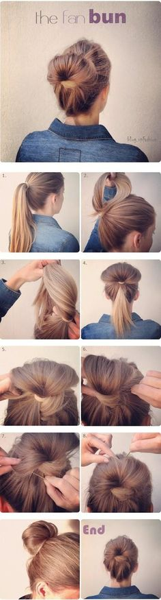 cute hair bun