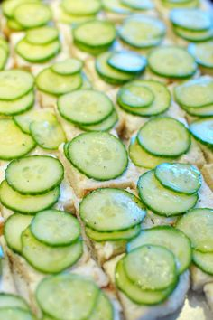 Cucumber sandwiches from super-cute tea party shower
