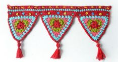 Crochet triangles wall hanging + Free Pattern Step By Step