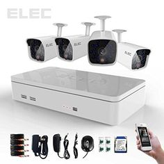 Special Offers - ELEC New 4 Channel 960H HDMI CCTV DVR 4 Indoor / Outdoor 700TVL IR-Cut Bullet Cameras Security Camera System with 1TB Hard Drive Pre-installed CVK-HL04CP03W-1TB - In stock & Free Shipping. You can save more money! Check It (June 19 2016 at 04:50AM) >> http://motionsensorusa.net/elec-new-4-channel-960h-hdmi-cctv-dvr-4-indoor-outdoor-700tvl-ir-cut-bullet-cameras-security-camera-system-with-1tb-hard-drive-pre-installed-cvk-hl04cp03w-1tb/