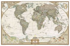 I love world maps.