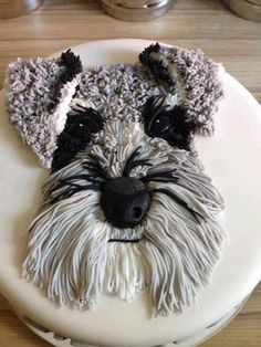 """Explore our internet site for even more details on """"Schnauzer dogs"""". It is a great place for more information. Pretty Cakes, Cute Cakes, Dog Cakes, Cupcake Cakes, Schnauzer Art, Schnauzer Grooming, Miniature Schnauzer Puppies, Cupcakes Decorados, Puppy Cake"""