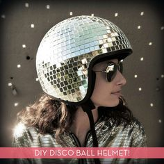 DIY Disco Ball Helmet! Hilarious!