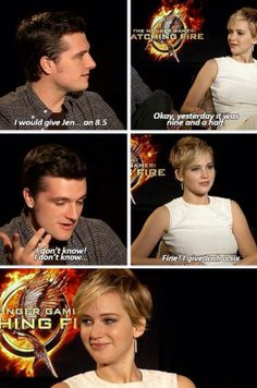 Find images and videos about funny, lol and Jennifer Lawrence on We Heart It - the app to get lost in what you love. Hunger Games Memes, Hunger Games Cast, Hunger Games Fandom, Hunger Games Catching Fire, Hunger Games Trilogy, Jennifer Lawrence Funny, Jennifer Lawrence Hunger Games, Jenifer Lawrence, Josh Hutcherson