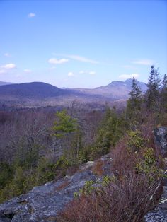 Mile 308.3 Flat Rock, Blue Ridge Parkway, North Carolina - This overlook provides views of Grandfather Mountain and Linville Valley.