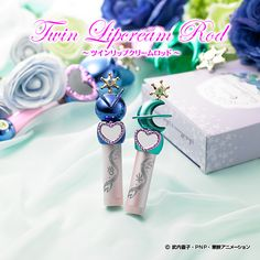 Sailor Moon Miracle Romance Sailor Uranus and Sailor Neptune Twin lip balm rod