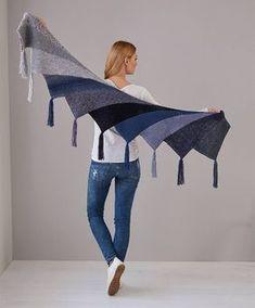 Prachtige gebreide sjaal, met link naar patroon