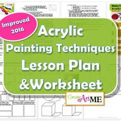 Painting Lessons & Worksheets PDF Archives - Create Art with ME Acrylic Painting Techniques, Art Techniques, Illusion Paintings, 8th Grade Art, Dry Brushing, Texture Painting, Art Lessons, Color Mixing, Worksheets