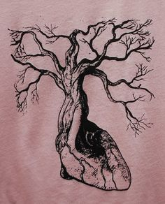 Valentines Day Gift Anatomical Heart Tree Tee by TheLotusRoot