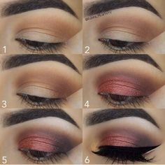 26 Ideas Eye Makeup For Beginners Step By Step Lashes For 2019 Fall Eyeshadow Looks, Bright Eyeshadow, Fall Makeup Looks, Brown Eyeshadow, Simple Eye Makeup, Makeup For Green Eyes, Blue Makeup, Huda Beauty Eyeshadow Palette, Smokey Eye Makeup