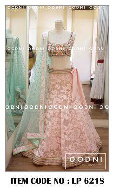 Bottom lehenga with plain pink blouse Indian Wedding Outfits, Bridal Outfits, Indian Outfits, Bridal Dresses, Wedding Dress, Lehenga Collection, Dress Collection, Indian Attire, Indian Wear