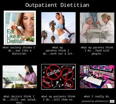 Outpatient dietitian, What people think I do, What I really do meme image - uthinkido.com