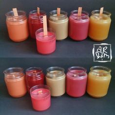 """A """"REAL"""" Housewife and Mommy: Easiest & Fastest Method For Upcycling Old Candles, Scented Wax, and Jars To New Crackling Wood Wick Candles Empty Candle Jars, Old Candles, Wood Wick Candles, Making Crayons, Diy Crayons, Wicks Diy, Recycled Crayons, Candle Making Business, Making Essential Oils"""