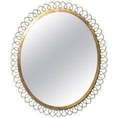 Mirror in Brass in the Manner of Josef Frank