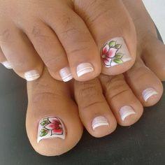 Unhas do Pé Decoradas 1071,  #unhasbonitas #UnhasDecoradasSimples #UnhasLindas, Toe Nail Art, Toe Nails, Manicure Y Pedicure, Pink Design, Beauty Nails, Veronica, Pretty Nails, Glamour, Beautiful