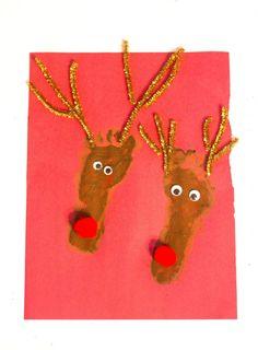 Reindeer Footprint Craft-Love, Play, Learn