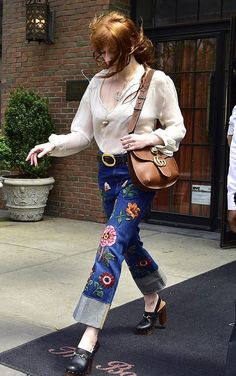 Florence Welch leaving her hotel in New York City