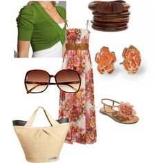 Maxi day,  on Polyvore