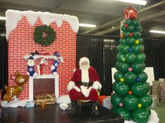 Santa Stage:   Let us build a festive set for St Nick. Our custom Santa stages offer a unique setting for the children to visit Santa, take pictures and receive their gifts. Choose just a chair for Santa or go with a complete set-up, the choice is yours.