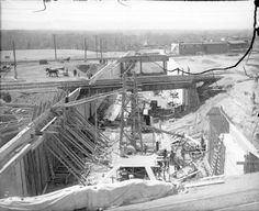 View of construction of Alameda underpass [1909 or 1910]. Acclaimed Western Photographers ~ Charles Lillybridge | Denver Public Library History