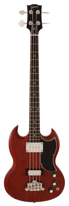 My all time favorite bass, Gibson SG Electric Bass Guitar Standard Faded Worn Cherry | Rainbow Guitars