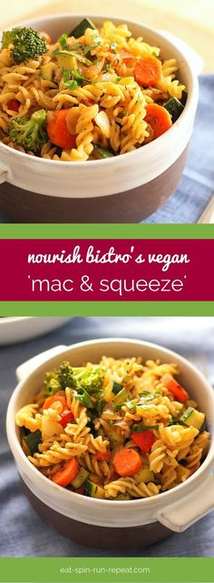 Vegan comfort food that's healthy, delicious, and tastes even better than the mac and cheese of your childhood - this  'Mac and Squeeze' recipe from Nourish Bistro in Banff, AB is a keeper!