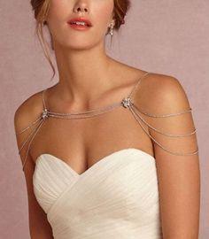Bridal Starfish Rhinestone Necklace Crystal Shoulder by LXdesigns