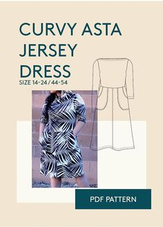 Plus size sewing pattern for womenPlus size dress PDF sewing