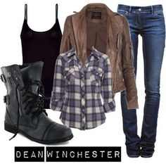 Here is Dean Winchester Outfit Gallery for you. Dean Winchester Outfit character dean winchester fandom supernatural buy it he. Fall Outfits, Casual Outfits, Cute Outfits, Fashion Outfits, Womens Fashion, Dean Winchester Outfit, Supernatural Inspired Outfits, Hunter Outfit, Estilo Rock