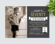 Latest No Cost Birthday Invitations male Concepts Did you know you will discover. Latest No Cost Birthday Invitations male Concepts Did you know you will discover over 31 million ju 70th Birthday Invitations, Birthday Invitation Templates, Vintage Birthday Parties, Vintage Chalkboard, Dad Birthday, Birthday Ideas, Free Birthday, Birthday Cakes, Birthday Chalkboard
