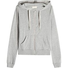 American Vintage Cotton Zip-Up Hoodie ($100) ❤ liked on Polyvore featuring tops, hoodies, grey, cotton hoodie, zip up hoodie, gray zip up hoodie, zip up hoodies and cotton hoodies