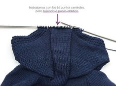 Chaqueta de punto marinera DIY - Tutorial y patrón Diy Crafts Knitting, Easy Knitting Patterns, Coat Patterns, Baby Boy Cardigan, Weaving For Kids, Baby Coat, Crochet For Boys, Garter Stitch, Baby Sweaters