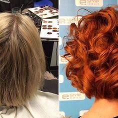Blond>Koper!!! Heel gaaf Gina!! @ginavanemmerick #estylehaarenzo #blonde #koper