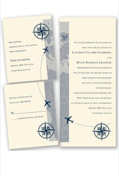 Love Takes Flight Wedding Invitation by David's Bridal | Follow us and start pinning pretty paper options - from invitations and save the dates to programs and table numbers - for a chance to win $1,000 to InvitationsbyDavidsBridal.com. Enter here: http://sweeps.piqora.com/rsvpready
