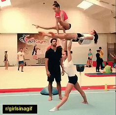 Strength And Flexibility To A Whole New Level Aerial Gymnastics, Gymnastics Tricks, Gymnastics Skills, Gymnastics Flexibility, Amazing Gymnastics, Gymnastics Posters, Acrobatic Gymnastics, Gymnastics Workout, Cheer Stunts