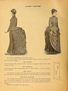 What We Did When The Power Went Out (Sewing In Walden): Ladies' Costume I 1888